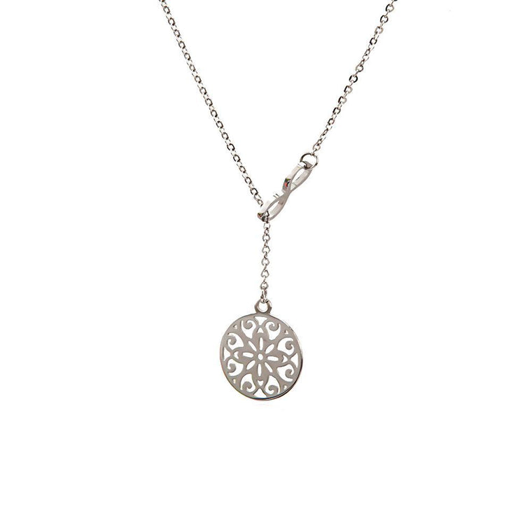 Necklace Caelum Silver Stainless Steel