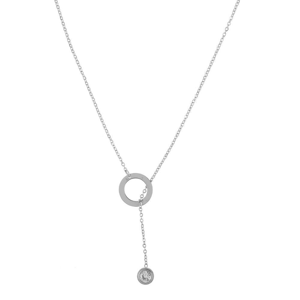 Necklace Celaneo Silver Stainless Steel-Costume Jewellery