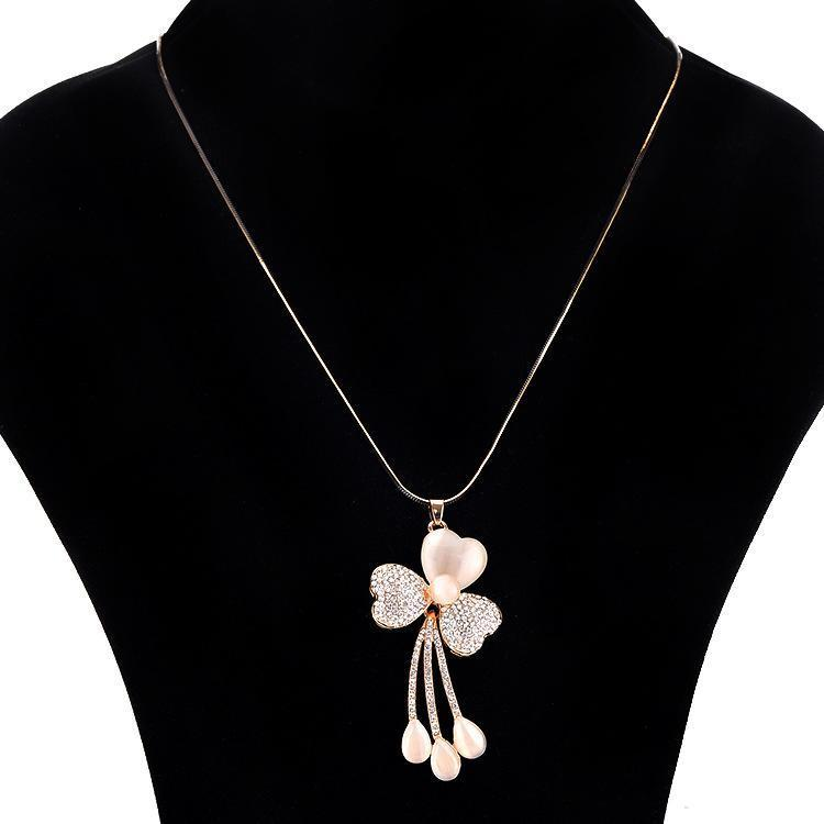 Necklace Jazmin Flower Gold-Costume Jewellery