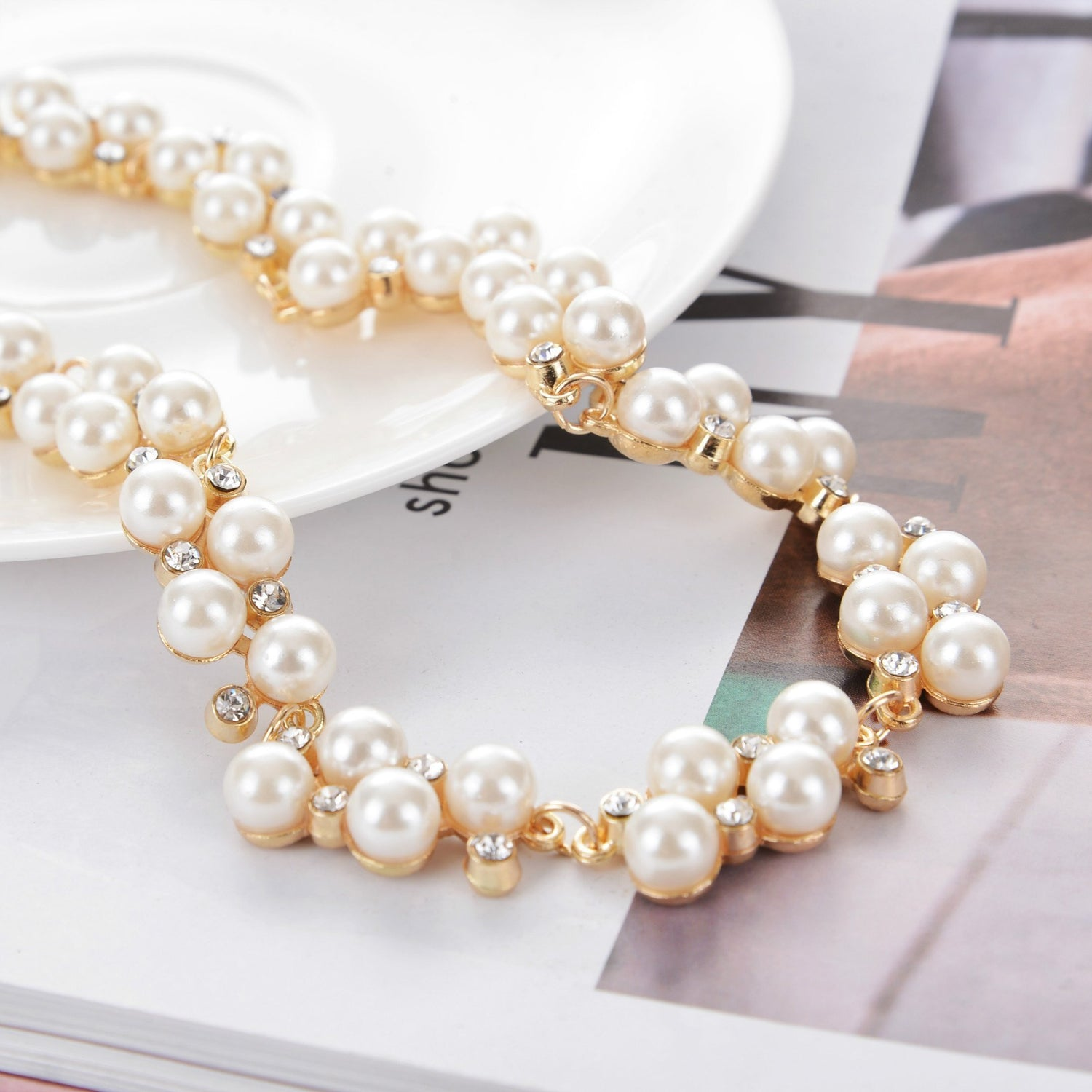 Necklace Kaia Pearls Gold-Costume Jewellery