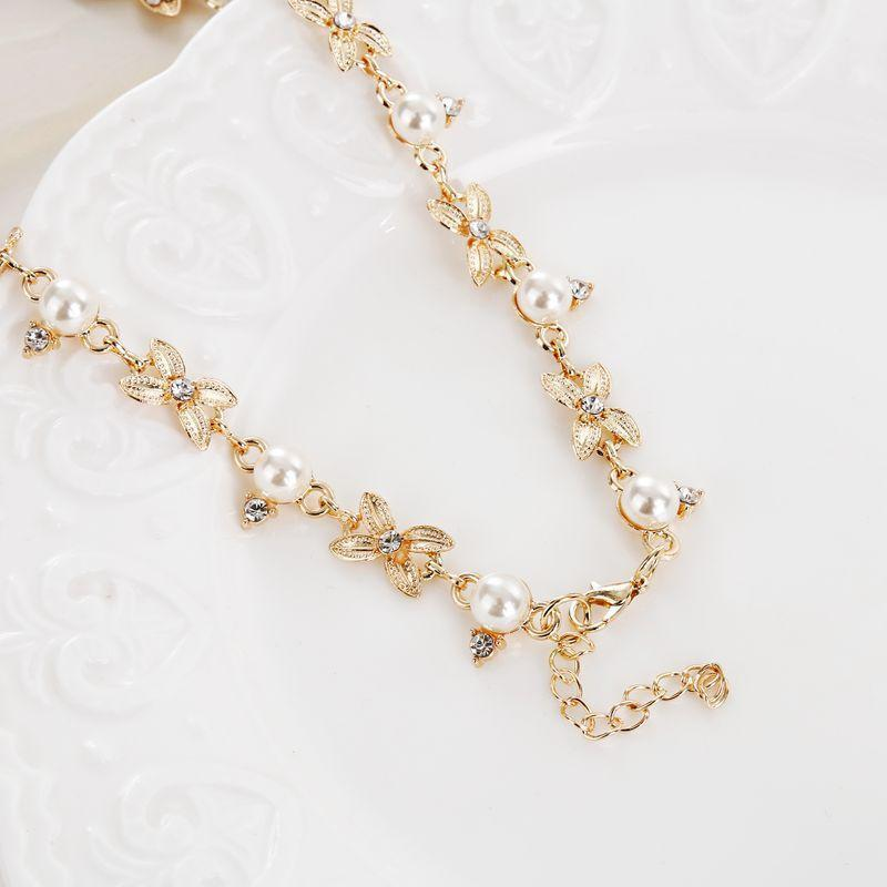 Necklace Océane Pearls Gold-Costume Jewellery