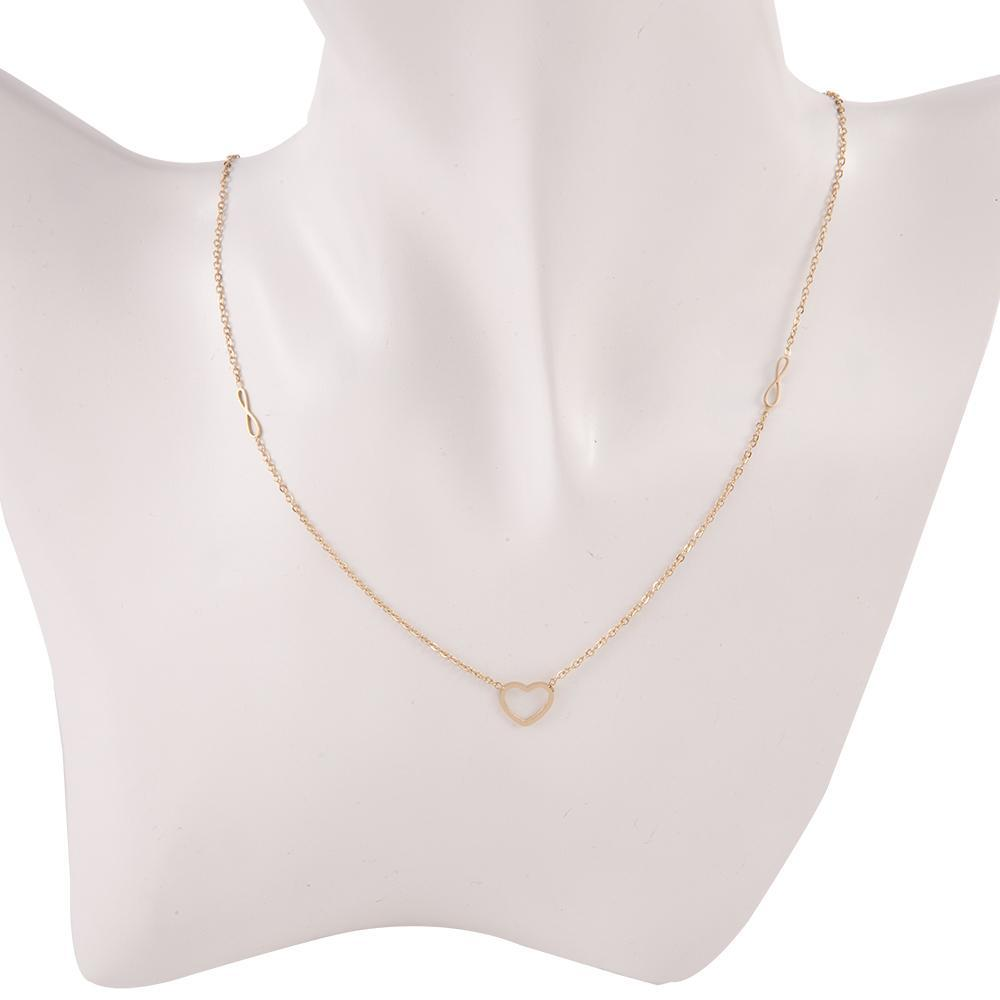 Necklace Themis Gold Stainless Steel-Costume Jewellery
