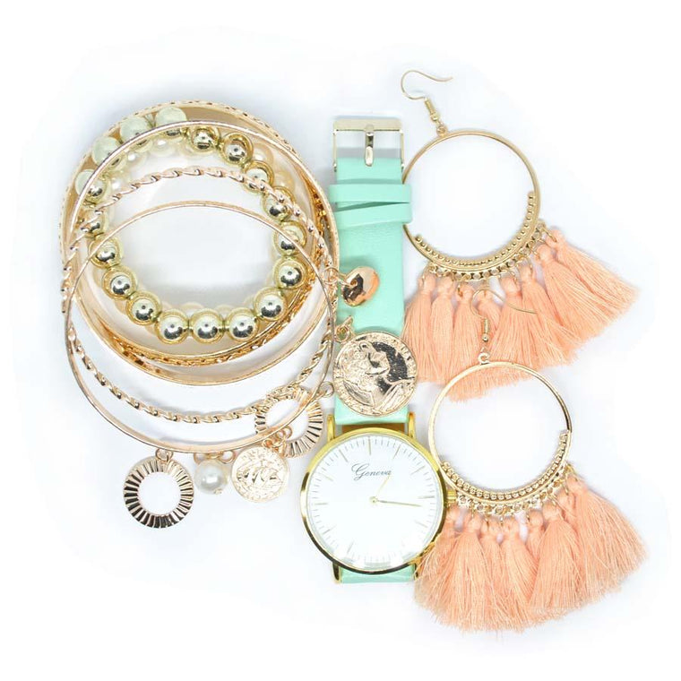 Set Bianca Gold & Pink