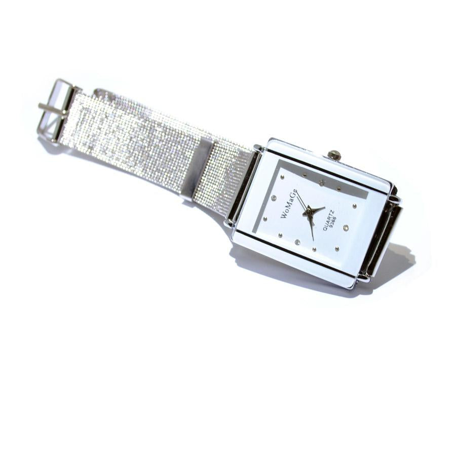 Watch Womage Silver Bracalet-Costume Jewellery