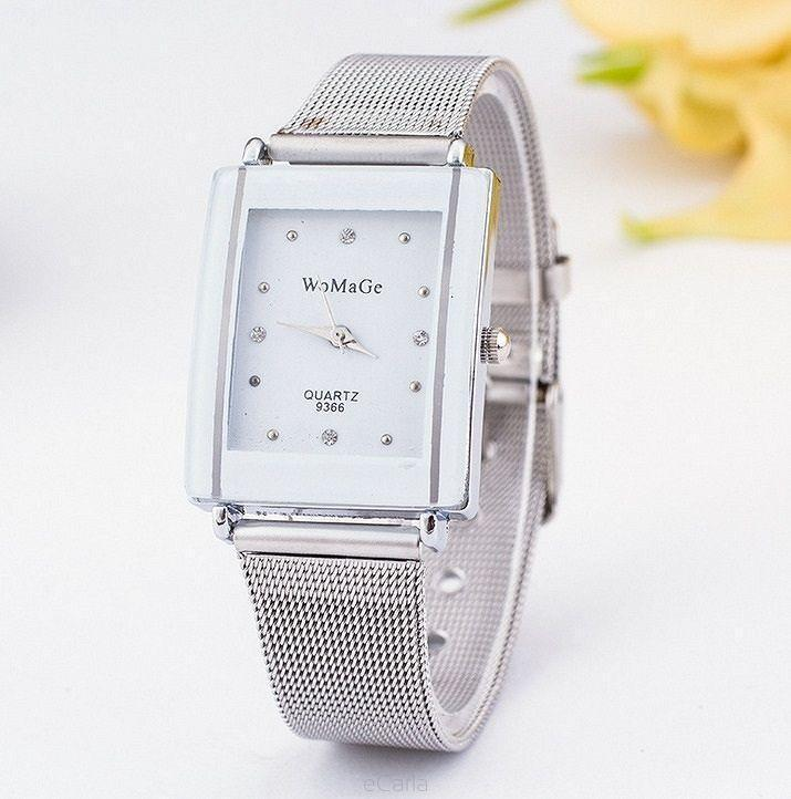 Watch Womage Silver Bracalet