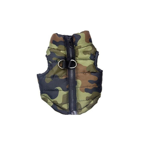 Camouflage Cotton-Padded Vest For Pets
