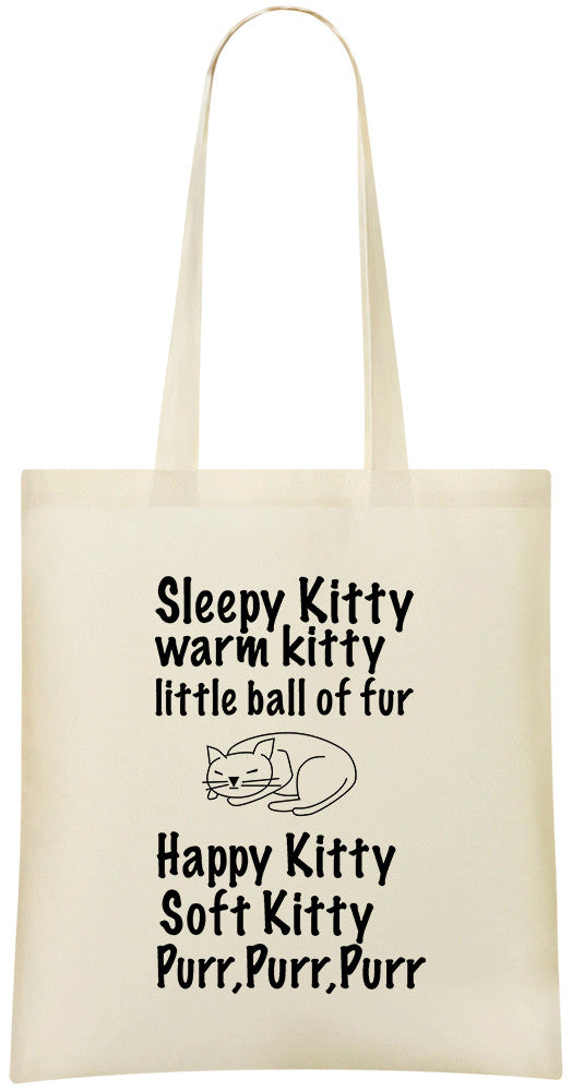 Sleepy Kitty-Happy Kitty Tote Bag