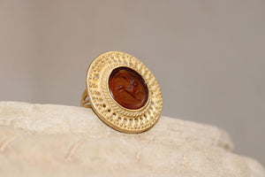 Chimera Glass Paste Ring in Brown