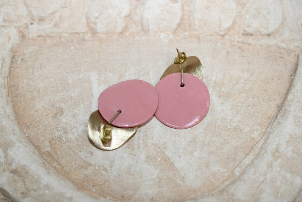 Big Rosé Orchid Earrings