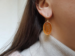 Athena The Goddess Glass Paste Earrings