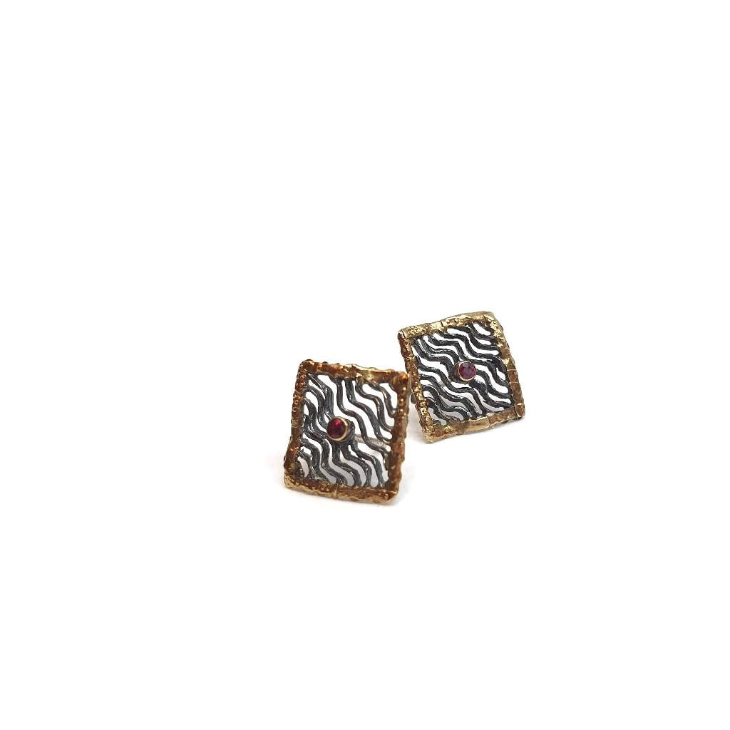 Square Curvy Earrings