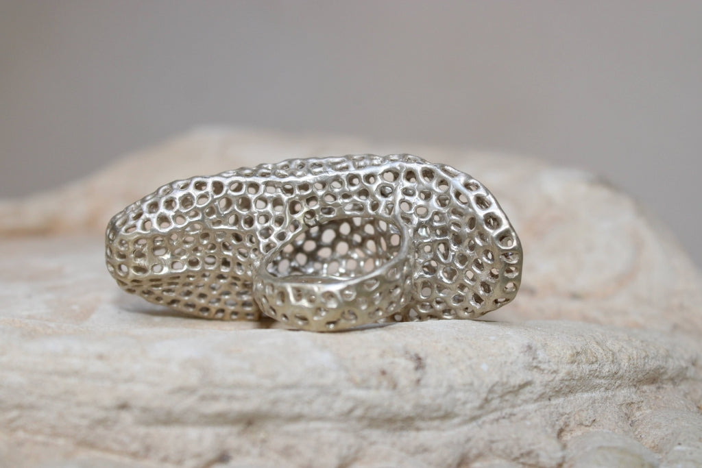 Aria Sculpture Ring #1 in Silver