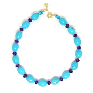 Turquoise and Amethyst Necklace