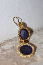 Chimera Glass Paste Earrings in Indigo
