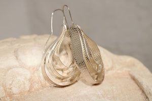 Silver Snake Earrings