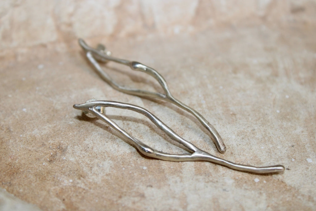 Impulso Earrings in Silver