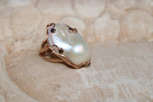 Baroque Pearl Ring #4 - UNIQUE PIECE