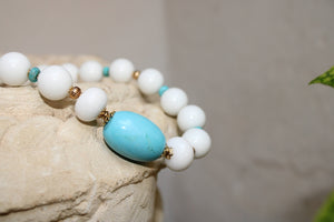 White Jade and Turquoise Necklace