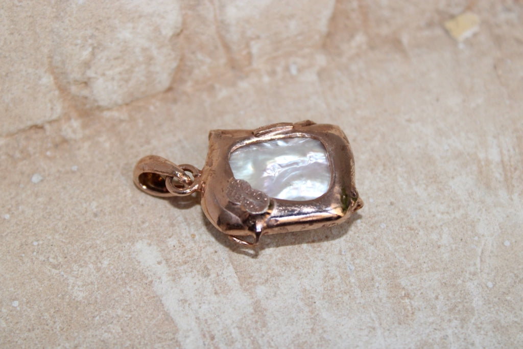Baroque Pearl Pendant #8 - UNIQUE PIECE