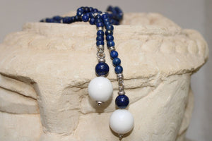 Lapislazzuli and White Jade Necklace