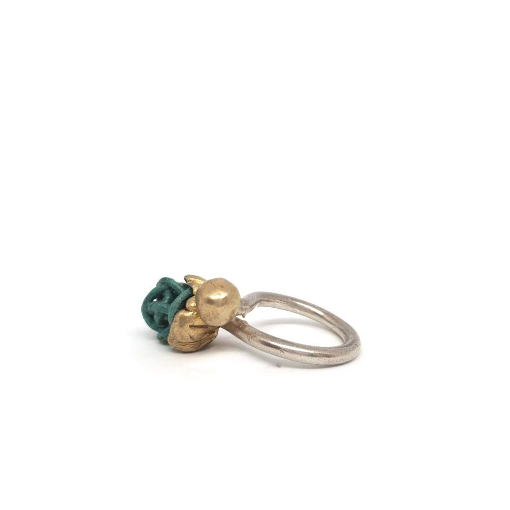 Evo Doppia Sfera Watergreen Ring