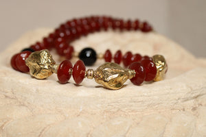 Carnelian and Onyx Necklace