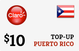 Plan Claro Puerto Rico $10 Top-Up