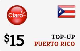 Plan Claro Puerto Rico $15 Top-Up