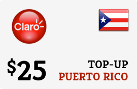 Plan Claro Puerto Rico $25 Top-Up