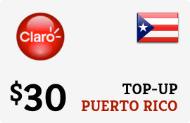 Plan Claro Puerto Rico $30 Top-Up