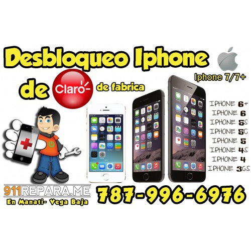 Desbloqueo Iphone Claro Puerto Rico hasta el 7 plus