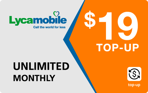 Plan LycaMobile 19