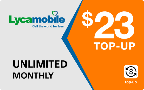 Plan LycaMobile 23
