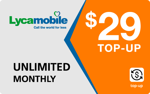 Plan LycaMobile 29