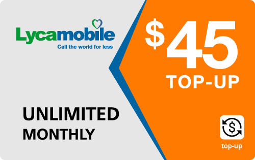 Plan LycaMobile 45