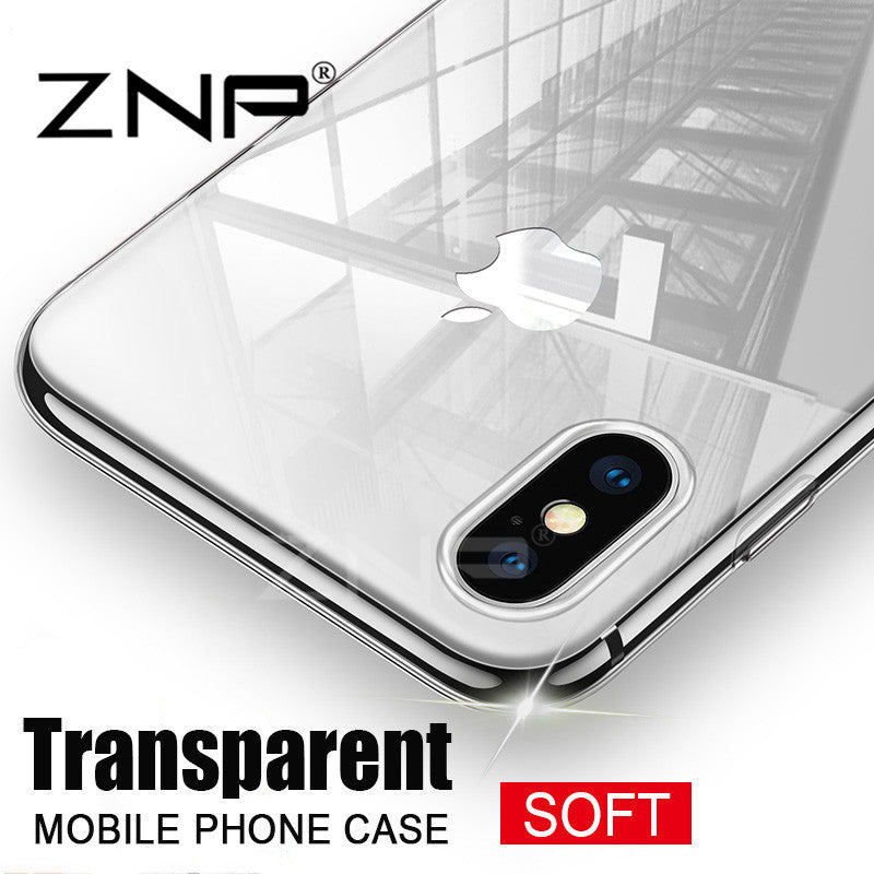 Cover TPU transparente For Apple iPhone X 8 8 Plus 7 silicone Case Cover For iPhone 6 6 7 Plus Phone Bag Case