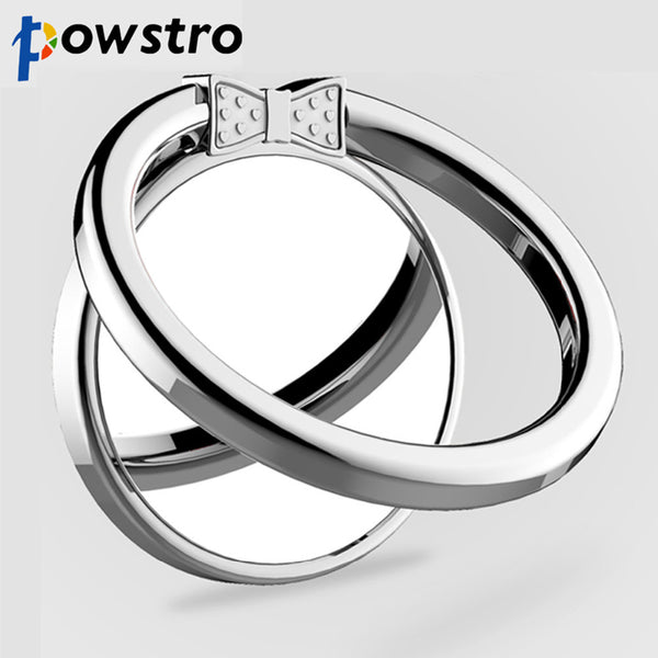 Powstro Metal Cute Bowknot Design Finger Ring with Mirror 360 Rotatable Smartphone Pad Stand Holder for Smartphone Tablet Pad - 911reparame