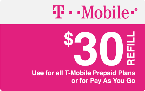 Plan T-Mobile $30 Top-Up