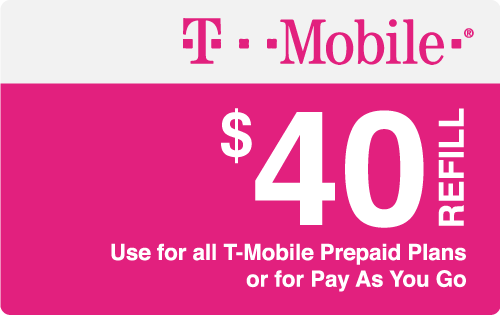 Plan T-Mobile $40 Top-Up