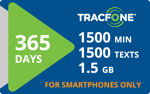 Plan Tracfone BYOP $125.00 365 Days