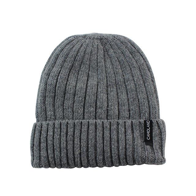 6591d987546 ... Wool Beanies Knit Men s Winter Hat Caps Skullies Bonnet Winter Hats For  Men Women Beanie Warm ...