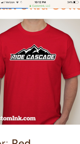 Ride Cascade T shirt Red