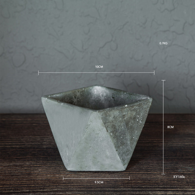 Concrete Diamond Planter