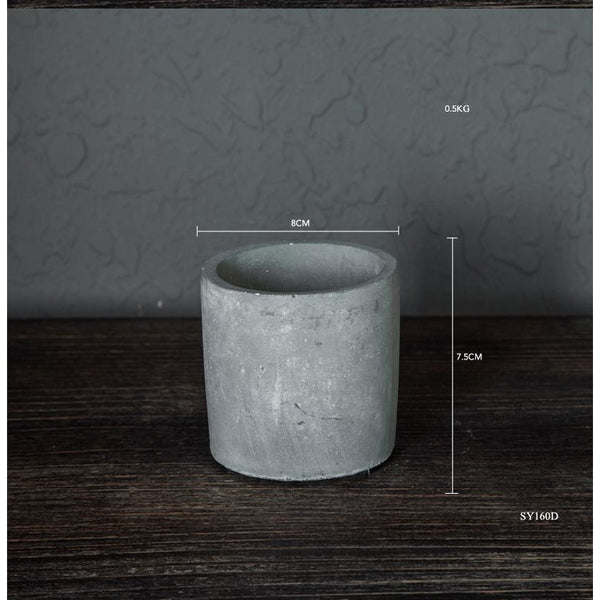 Concrete Cylindrical Planter