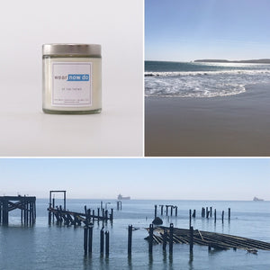 Bergamot, ginger, and lemon scented pure soy wax candle