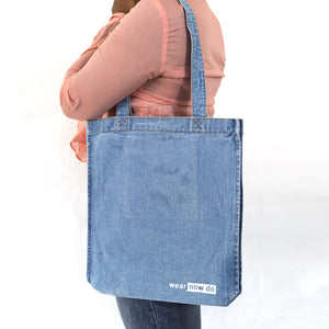 Wear Now Do Distressed Denim Tote