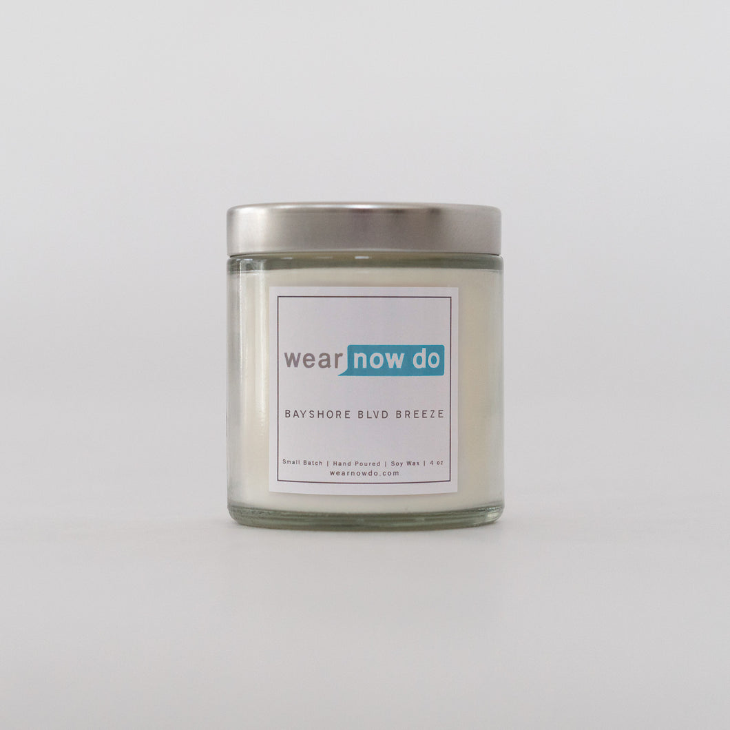 citrus, jasmine, and honey scented pure soy wax candle