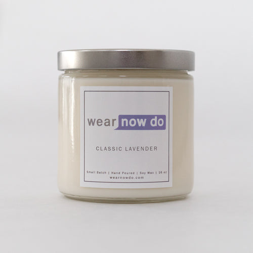 Lavender scented pure soy wax candle