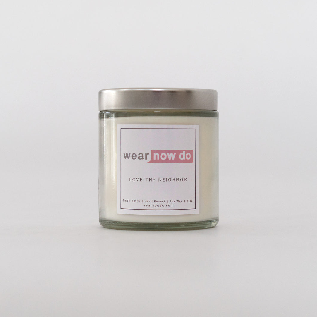 Scented candle with musk, balanced with orange and lilac notes pure soy wax candle