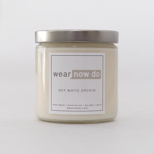 Vanilla scented pure soy wax candle